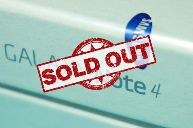 Galaxy Note 4 Sold Out