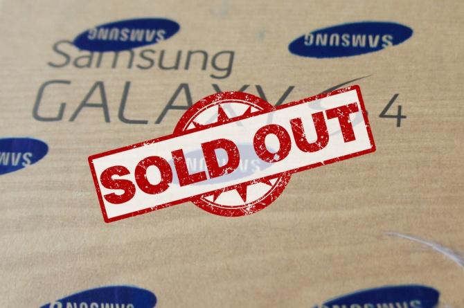 Samsung Galaxy S4 Sold Out