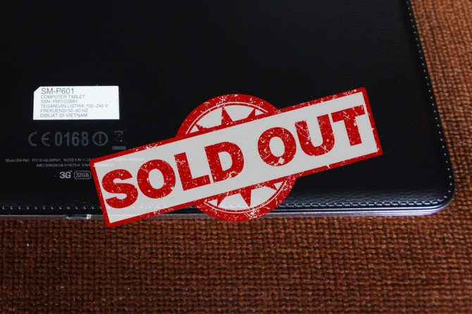 Galaxy Note Sold Out