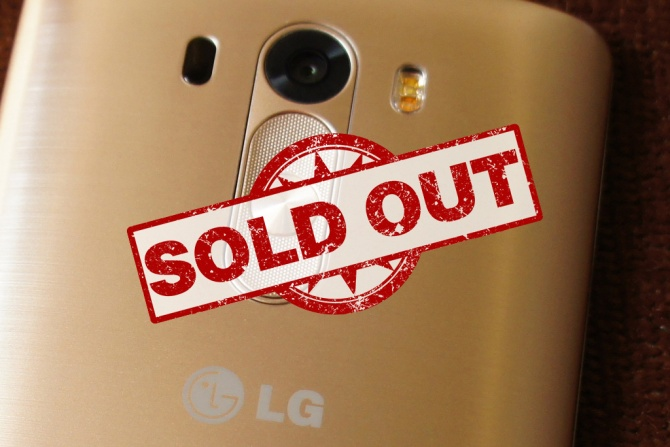 LG G3 Sold Out